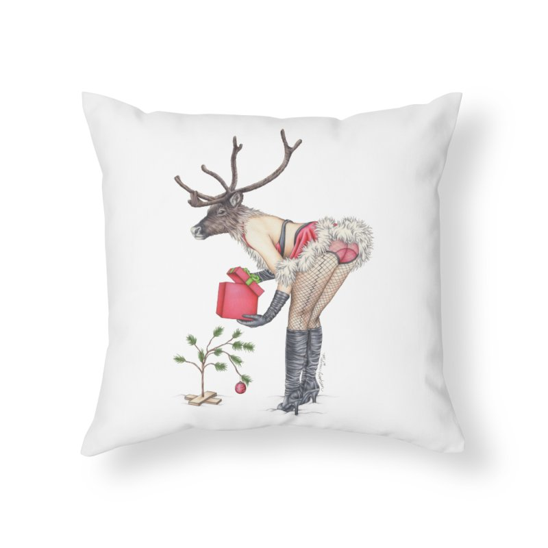 Santa's Secret Helper Home Throw Pillow by MelJo JoJo's Artist Shop