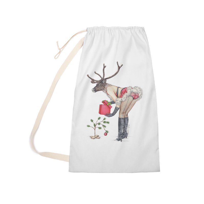 Santa's Secret Helper Accessories Laundry Bag Bag by MelJo JoJo's Artist Shop