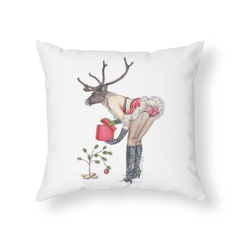 Santa's Secret Helper Home Throw Pillow by MelJo JoJo's Artist Shop