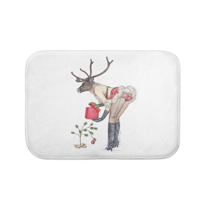 Santa's Secret Helper Home Bath Mat by MelJo JoJo's Artist Shop