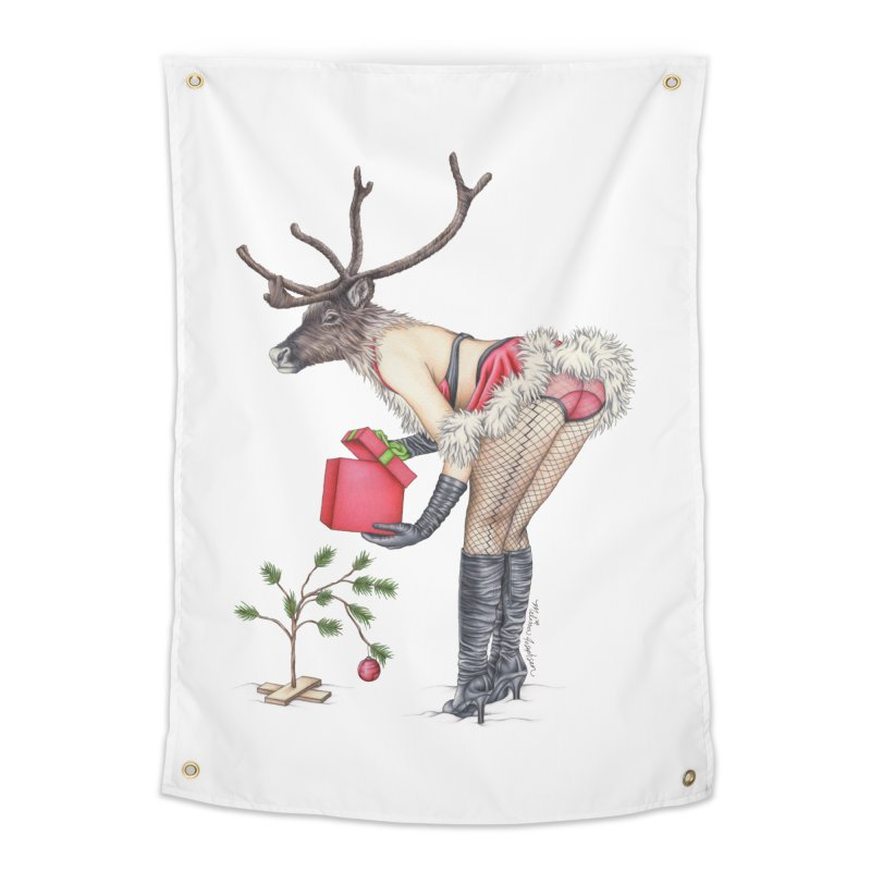 Santa's Secret Helper Home Tapestry by MelJo JoJo's Artist Shop