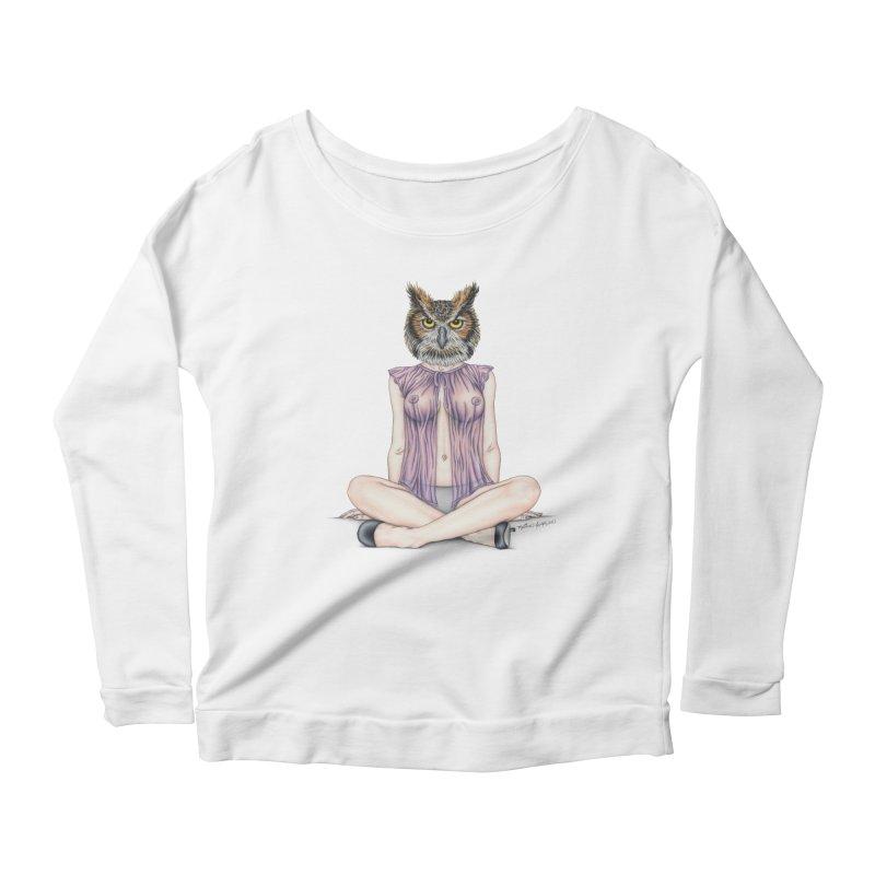 Lady of the Night Women's Scoop Neck Longsleeve T-Shirt by MelJo JoJo's Artist Shop