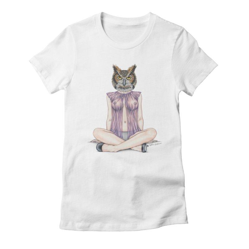 Lady of the Night Women's Fitted T-Shirt by MelJo JoJo's Artist Shop