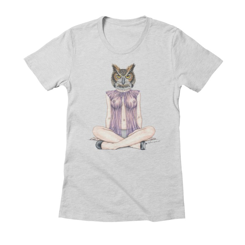 Lady of the Night Women's Fitted T-Shirt by MelJo JoJo's Artist Shop