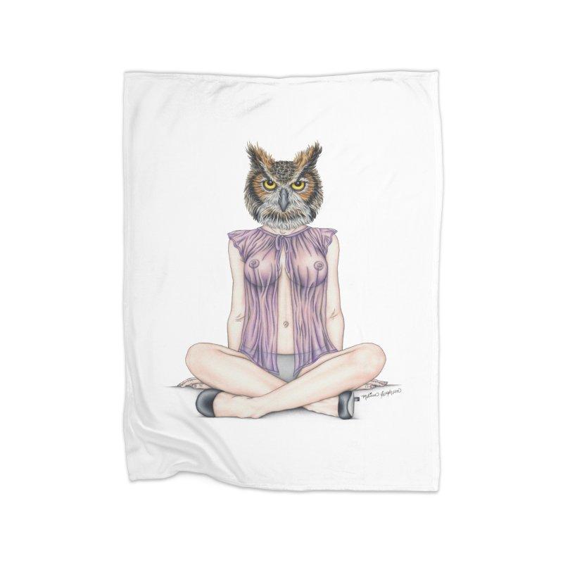 Lady of the Night Home Blanket by MelJo JoJo's Artist Shop