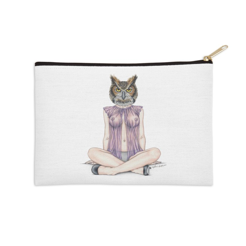 Lady of the Night Accessories Zip Pouch by MelJo JoJo's Artist Shop
