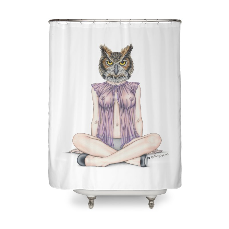 Lady of the Night Home Shower Curtain by MelJo JoJo's Artist Shop
