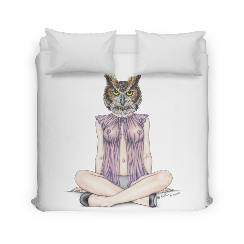 Lady of the Night Home Duvet by MelJo JoJo's Artist Shop