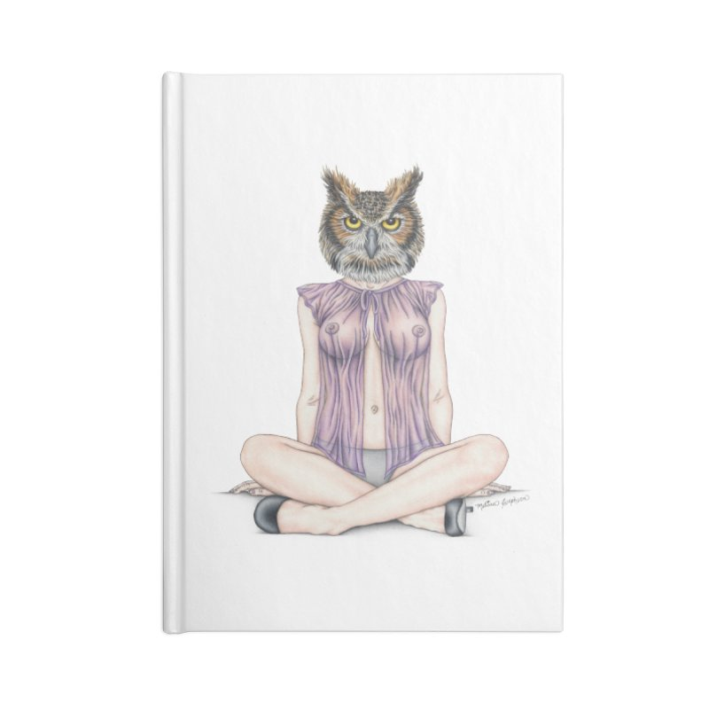 Lady of the Night Accessories Lined Journal Notebook by MelJo JoJo's Artist Shop