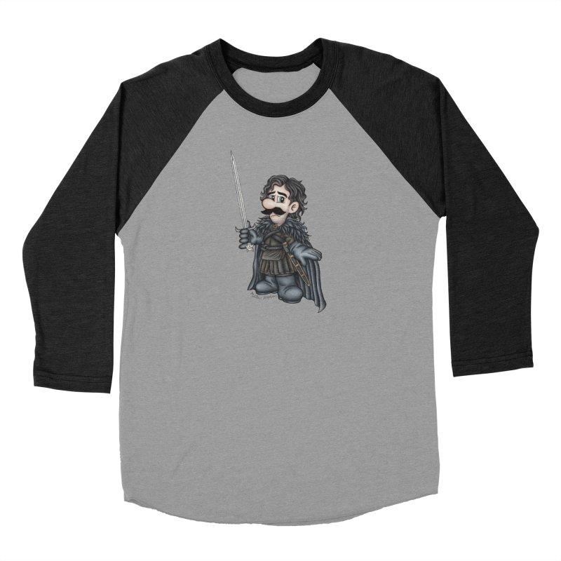 Bastard of the Mushroom Kingdom Women's Baseball Triblend Longsleeve T-Shirt by MelJo JoJo's Artist Shop