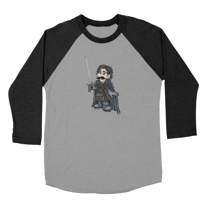 Bastard of the Mushroom Kingdom Men's Baseball Triblend Longsleeve T-Shirt by MelJo JoJo's Artist Shop