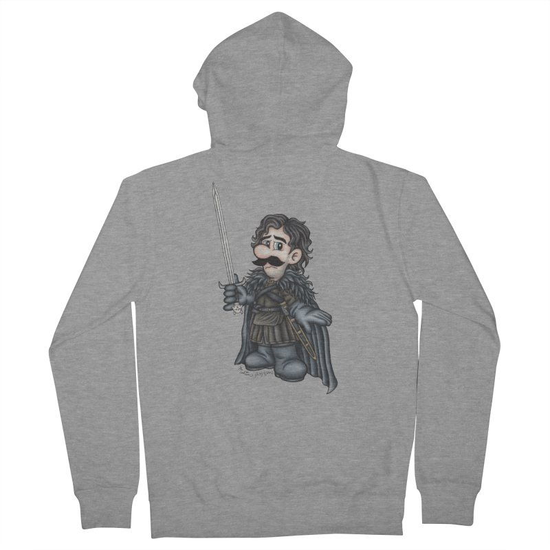 Bastard of the Mushroom Kingdom Men's French Terry Zip-Up Hoody by MelJo JoJo's Artist Shop