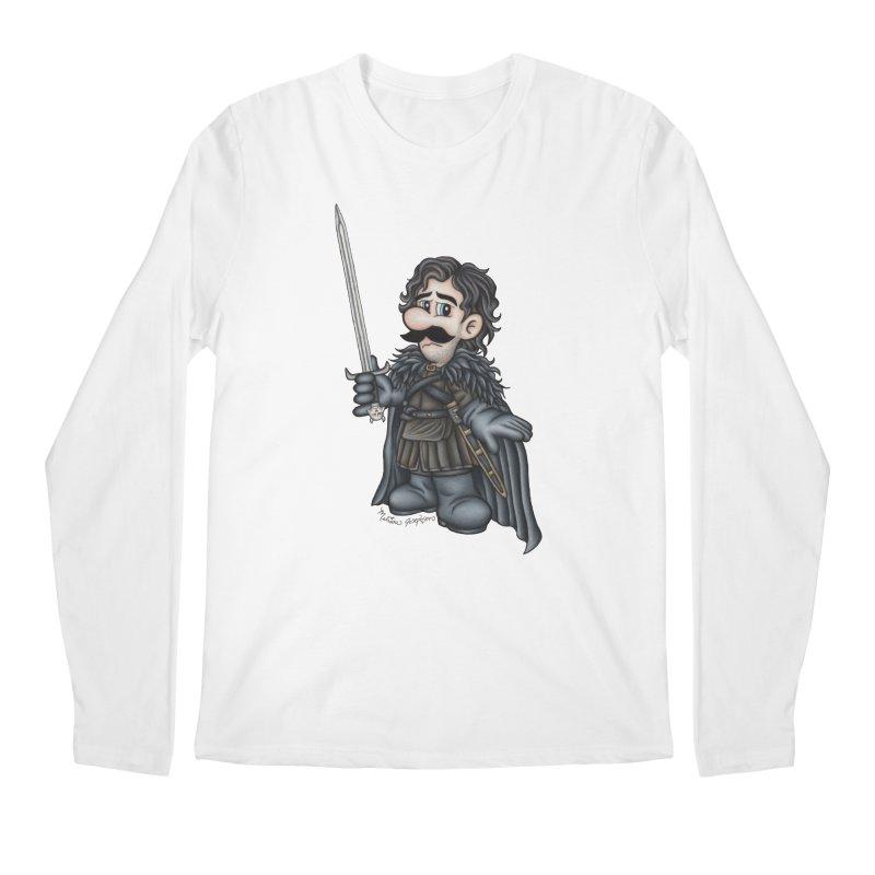 Bastard of the Mushroom Kingdom Men's Regular Longsleeve T-Shirt by MelJo JoJo's Artist Shop