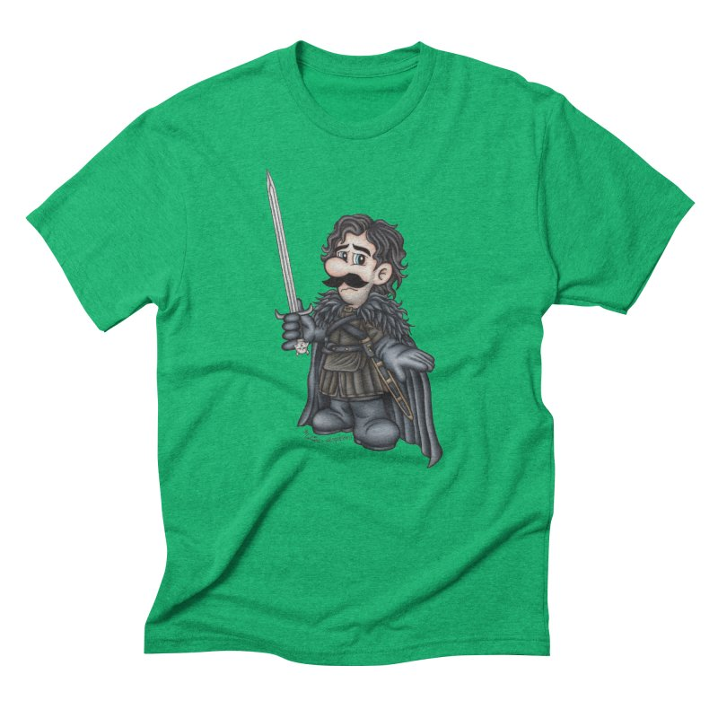 Bastard of the Mushroom Kingdom Men's Triblend T-Shirt by MelJo JoJo's Artist Shop