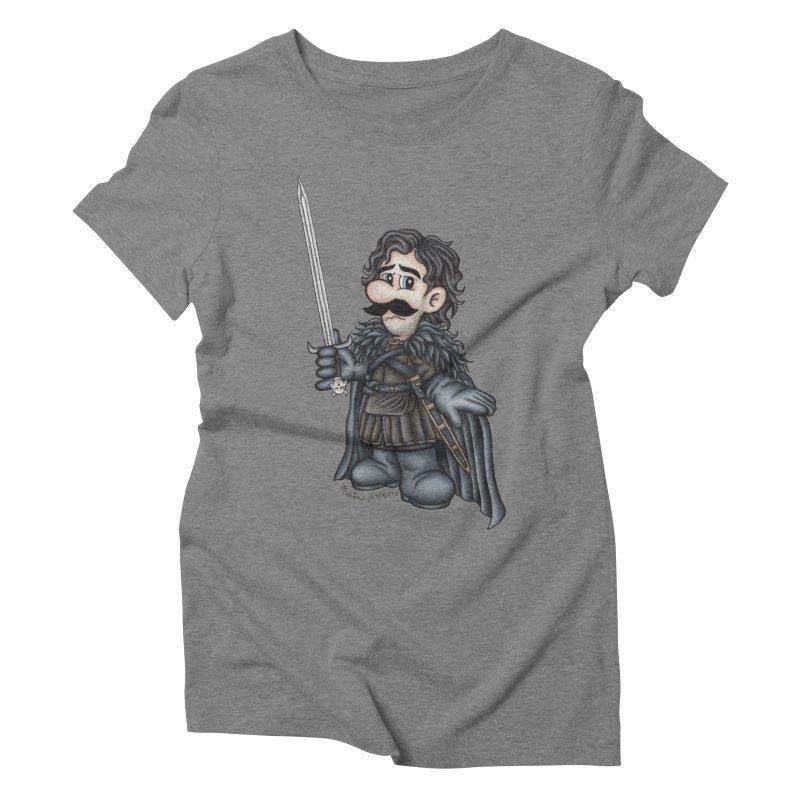 Bastard of the Mushroom Kingdom Women's Triblend T-shirt by MelJo JoJo's Artist Shop
