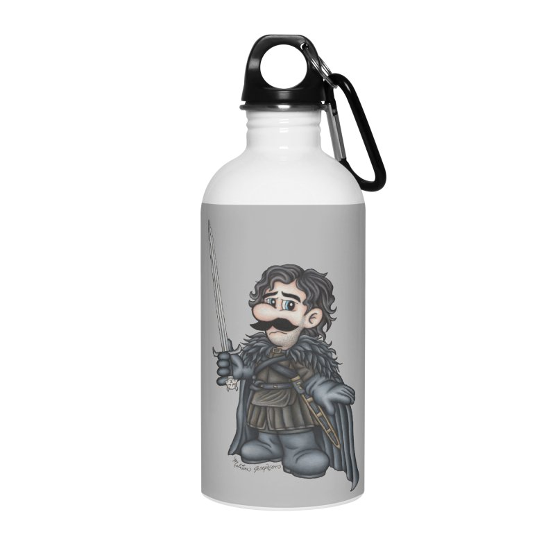 Bastard of the Mushroom Kingdom Accessories Water Bottle by MelJo JoJo's Artist Shop