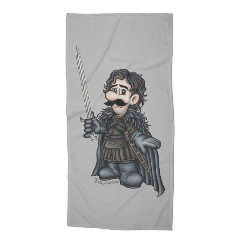 Bastard of the Mushroom Kingdom Accessories Beach Towel by MelJo JoJo's Artist Shop