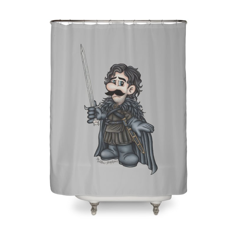 Bastard of the Mushroom Kingdom Home Shower Curtain by MelJo JoJo's Artist Shop