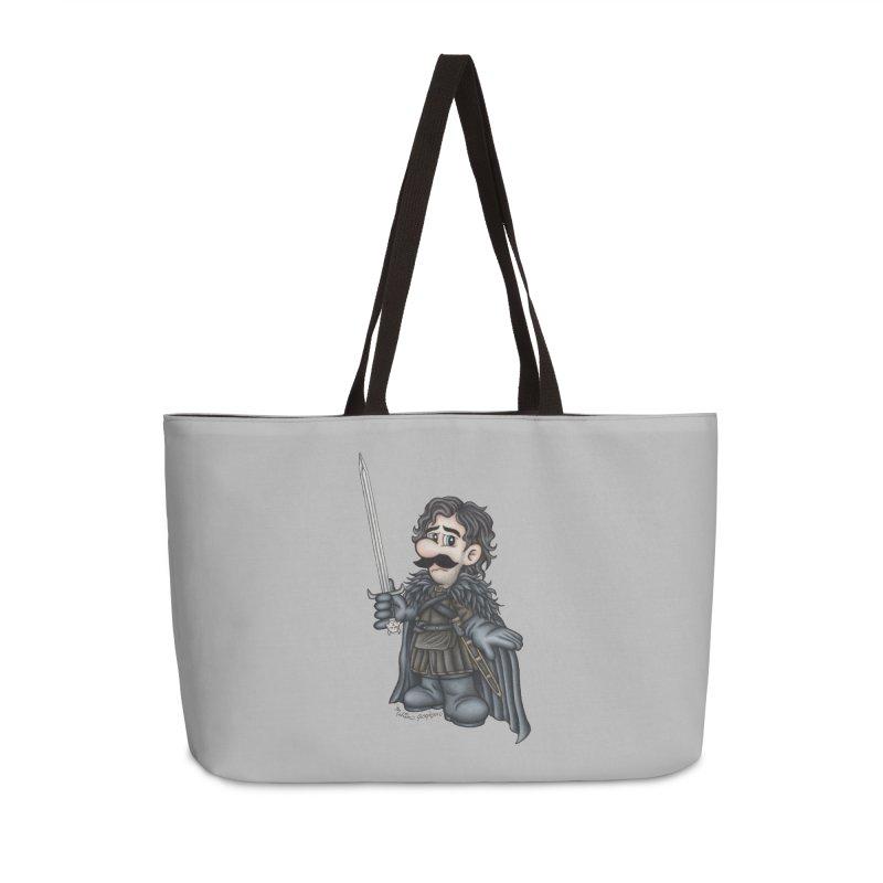 Bastard of the Mushroom Kingdom Accessories Weekender Bag Bag by MelJo JoJo's Artist Shop