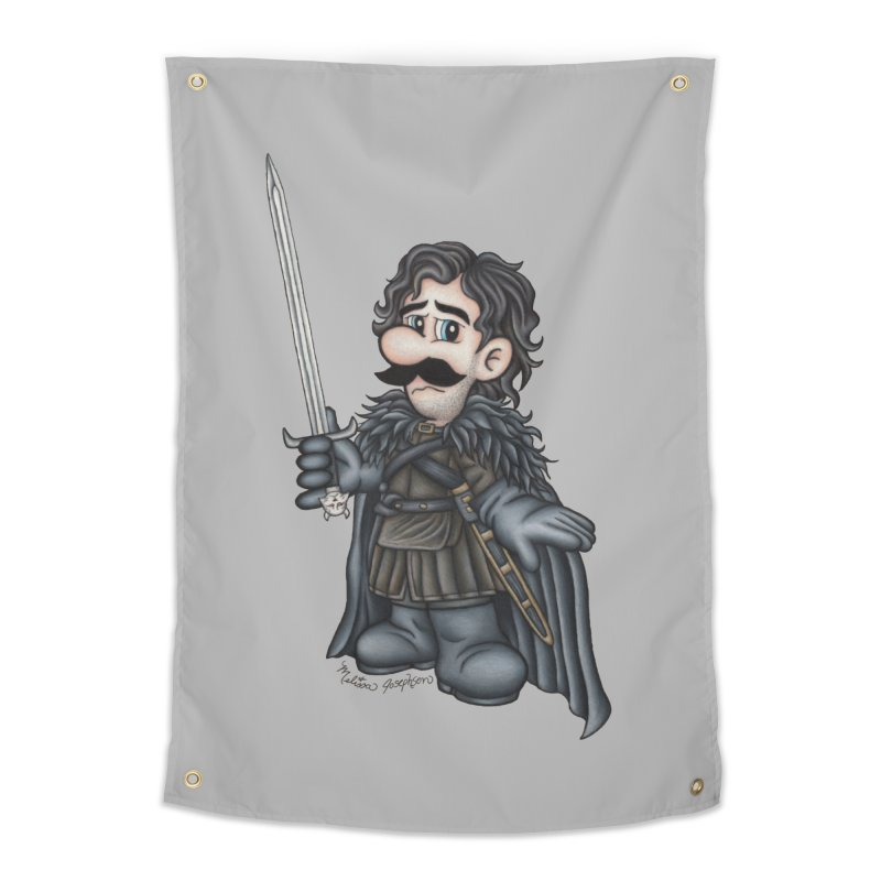 Bastard of the Mushroom Kingdom Home Tapestry by MelJo JoJo's Artist Shop