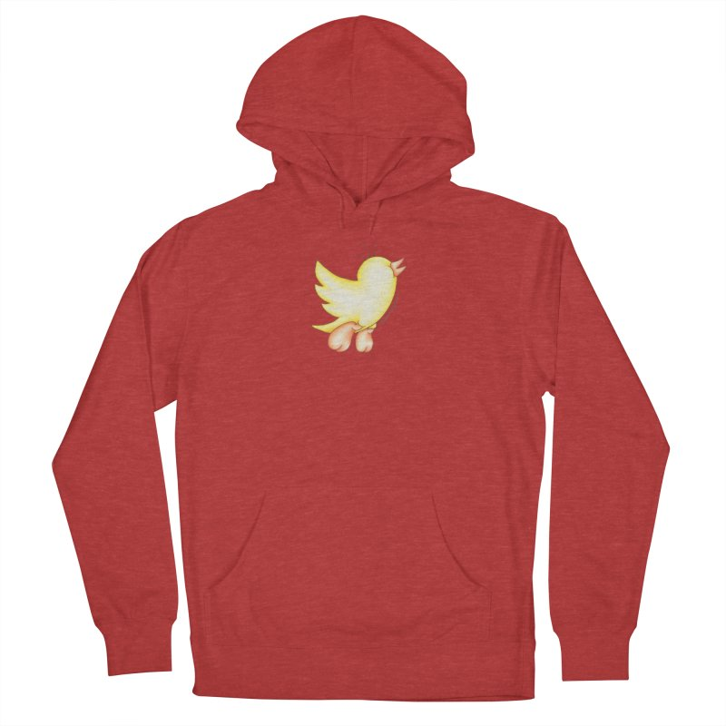 Tweeter Men's French Terry Pullover Hoody by MelJo JoJo's Artist Shop