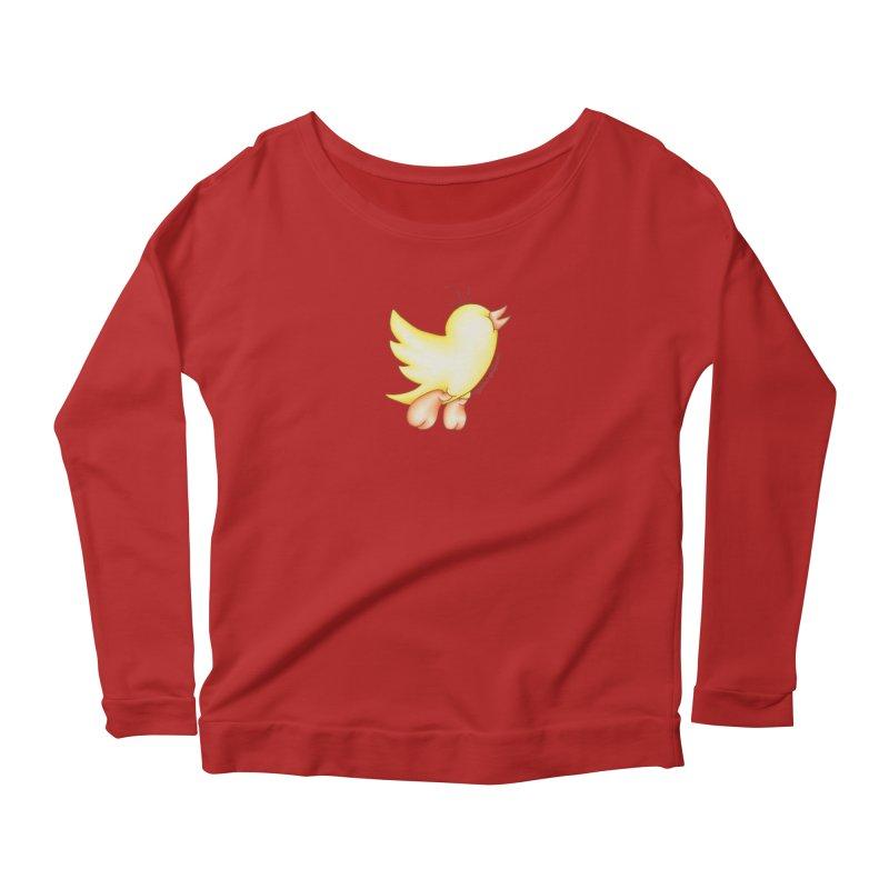 Tweeter Women's Longsleeve Scoopneck  by MelJo JoJo's Artist Shop