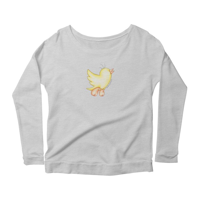 Tweeter Women's Scoop Neck Longsleeve T-Shirt by MelJo JoJo's Artist Shop