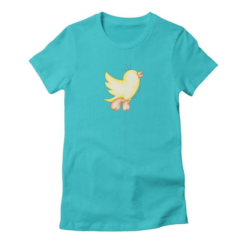 Tweeter Women's Fitted T-Shirt by MelJo JoJo's Artist Shop