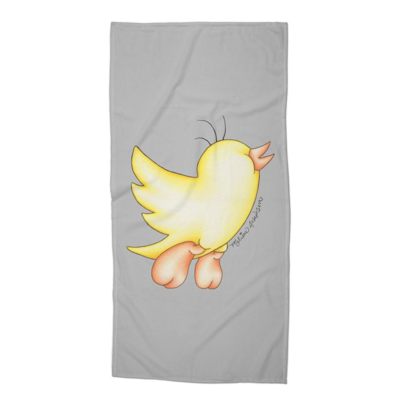 Tweeter Accessories Beach Towel by MelJo JoJo's Artist Shop