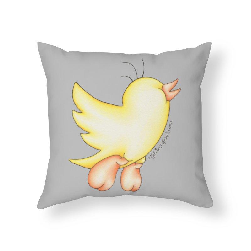 Tweeter Home Throw Pillow by MelJo JoJo's Artist Shop