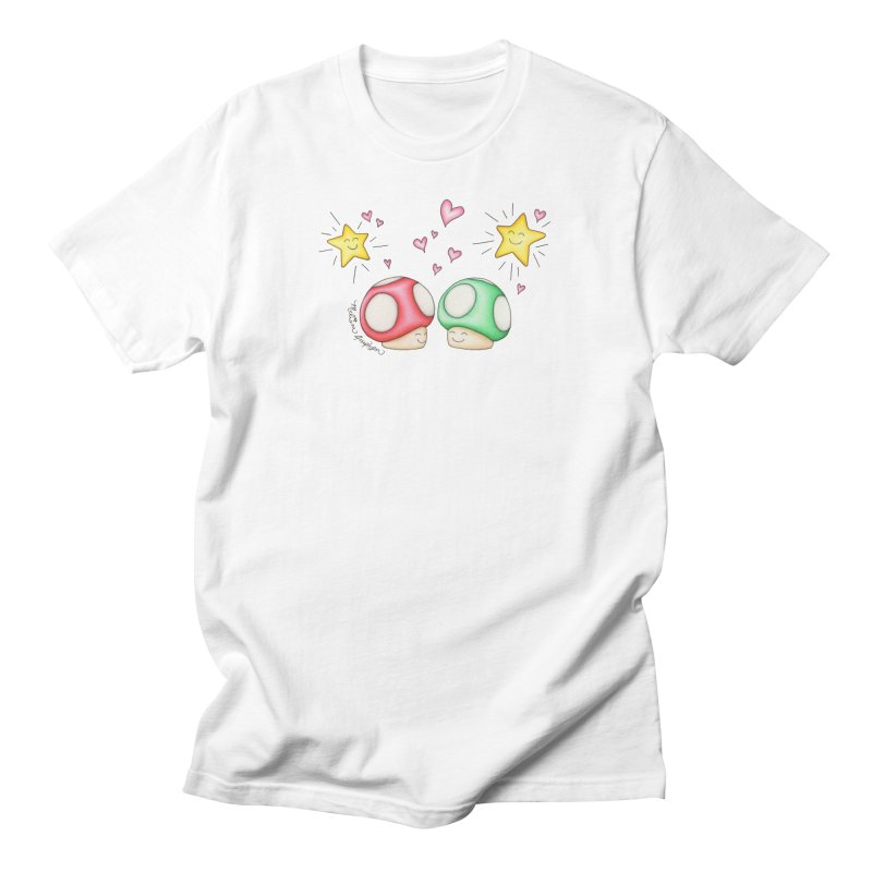 Mushroom Love Men's T-Shirt by MelJo JoJo's Artist Shop