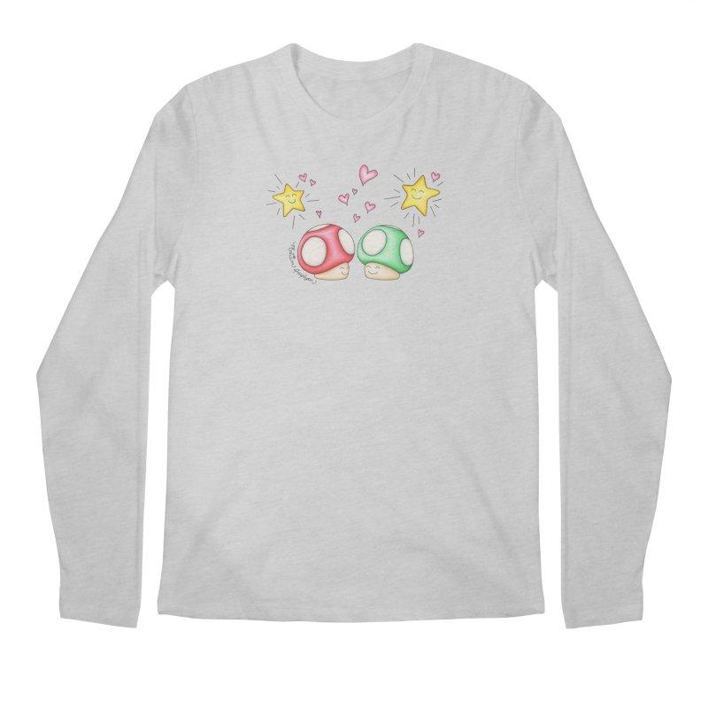 Mushroom Love Men's Longsleeve T-Shirt by MelJo JoJo's Artist Shop