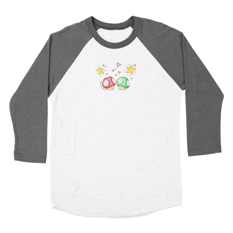 Mushroom Love Men's Baseball Triblend Longsleeve T-Shirt by MelJo JoJo's Artist Shop