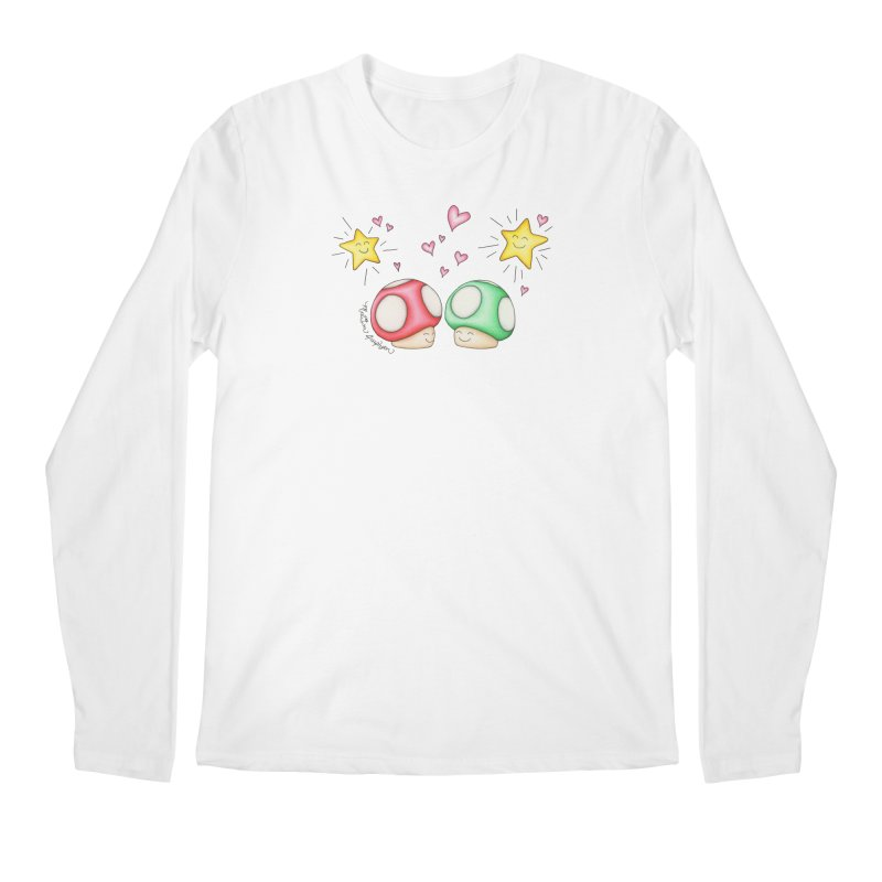 Mushroom Love Men's Regular Longsleeve T-Shirt by MelJo JoJo's Artist Shop