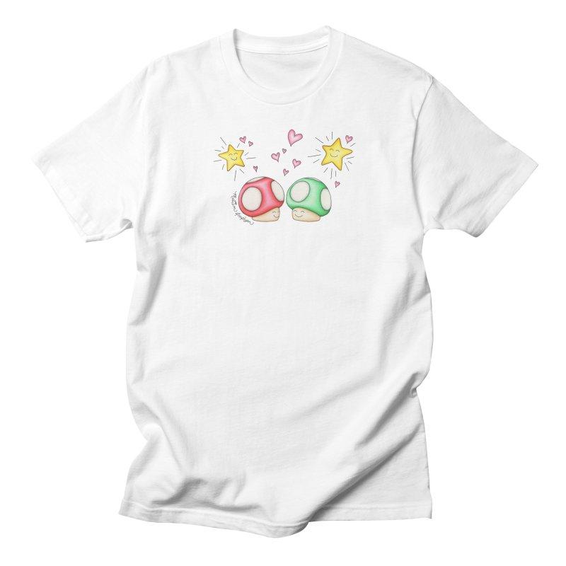 Mushroom Love Men's Regular T-Shirt by MelJo JoJo's Artist Shop