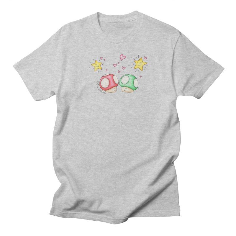 Mushroom Love Women's Unisex T-Shirt by MelJo JoJo's Artist Shop