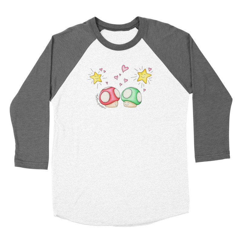 Mushroom Love Men's Baseball Triblend Longsleeve T-Shirt by MelJo JoJo's Artist Shop