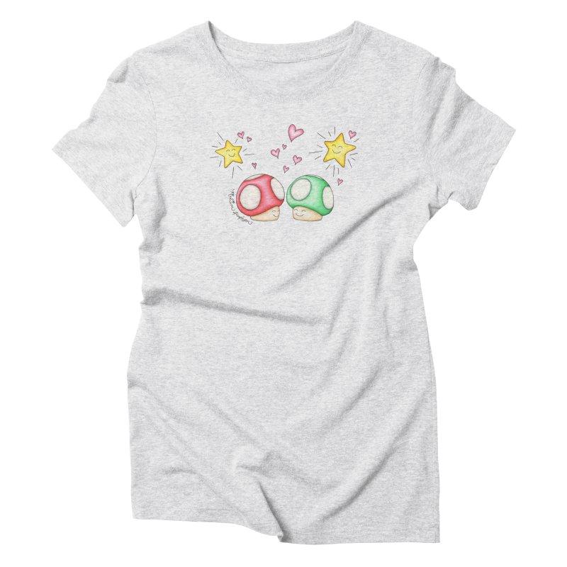Mushroom Love Women's T-Shirt by MelJo JoJo's Artist Shop