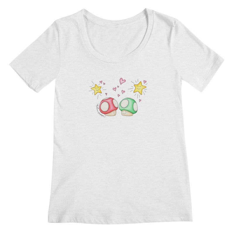 Mushroom Love Women's Regular Scoop Neck by MelJo JoJo's Artist Shop