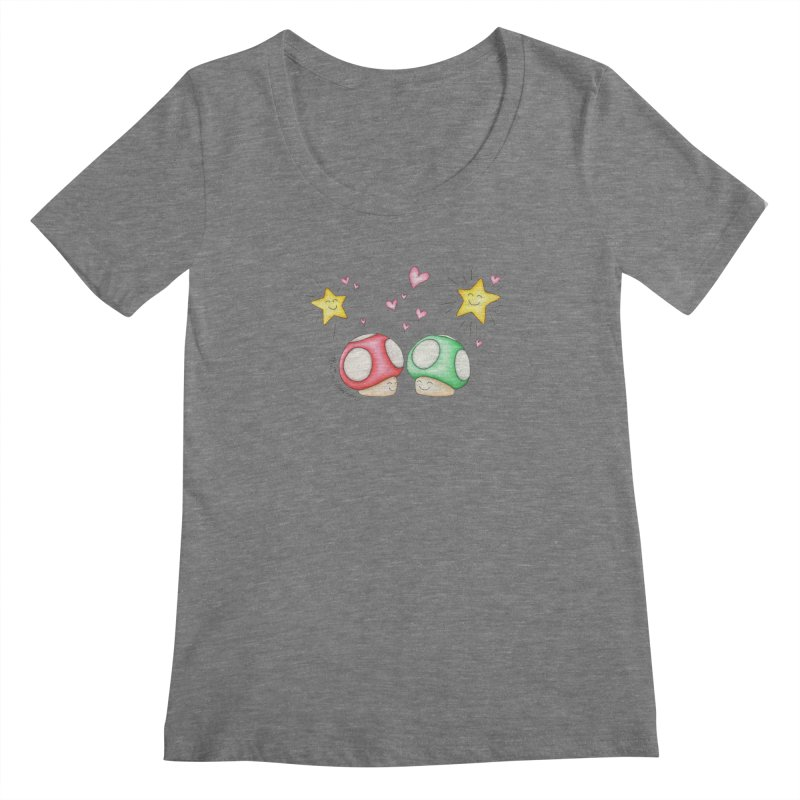 Mushroom Love Women's Scoopneck by MelJo JoJo's Artist Shop