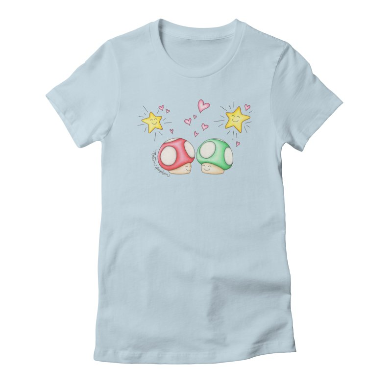 Mushroom Love Women's T-Shirt by MelJo JoJo's Artist Shop