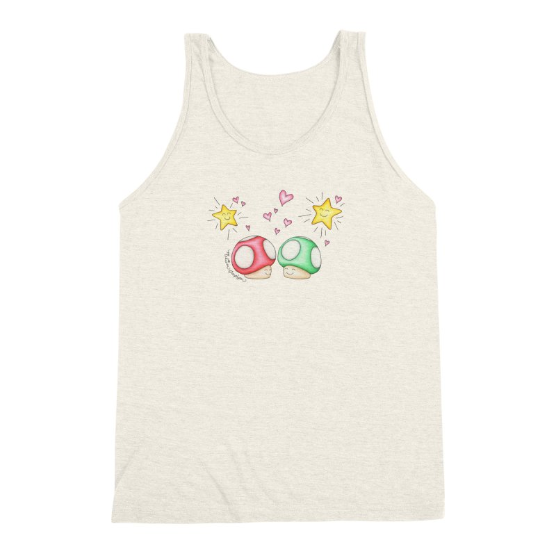 Mushroom Love Men's Triblend Tank by MelJo JoJo's Artist Shop