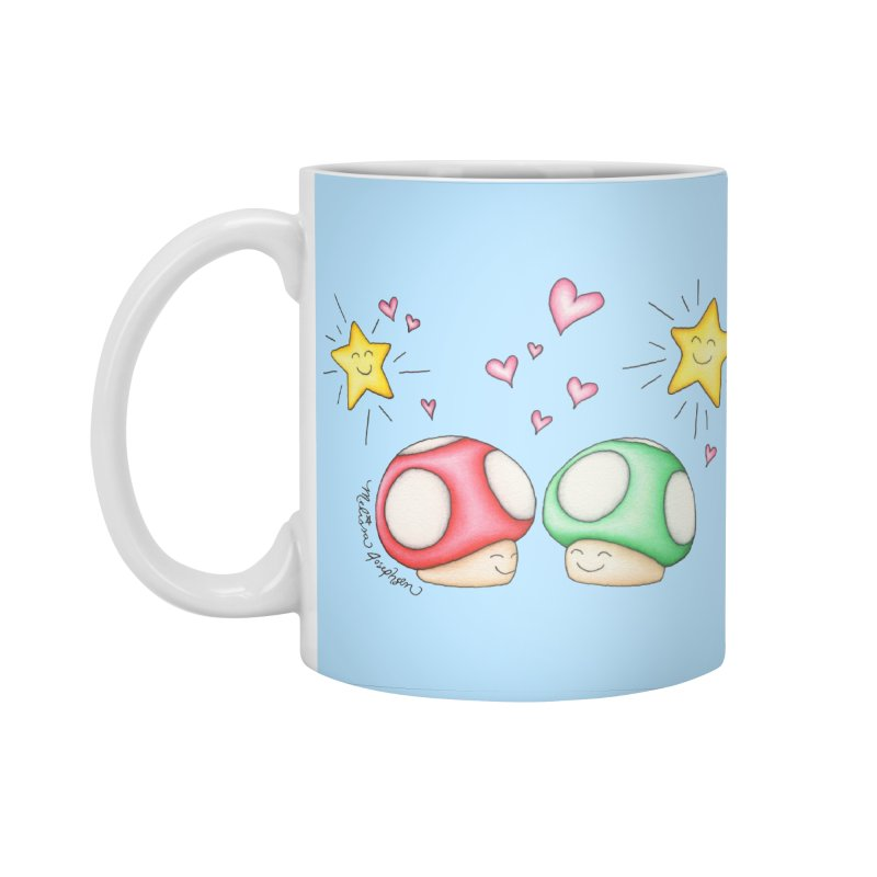 Mushroom Love Accessories Mug by MelJo JoJo's Artist Shop