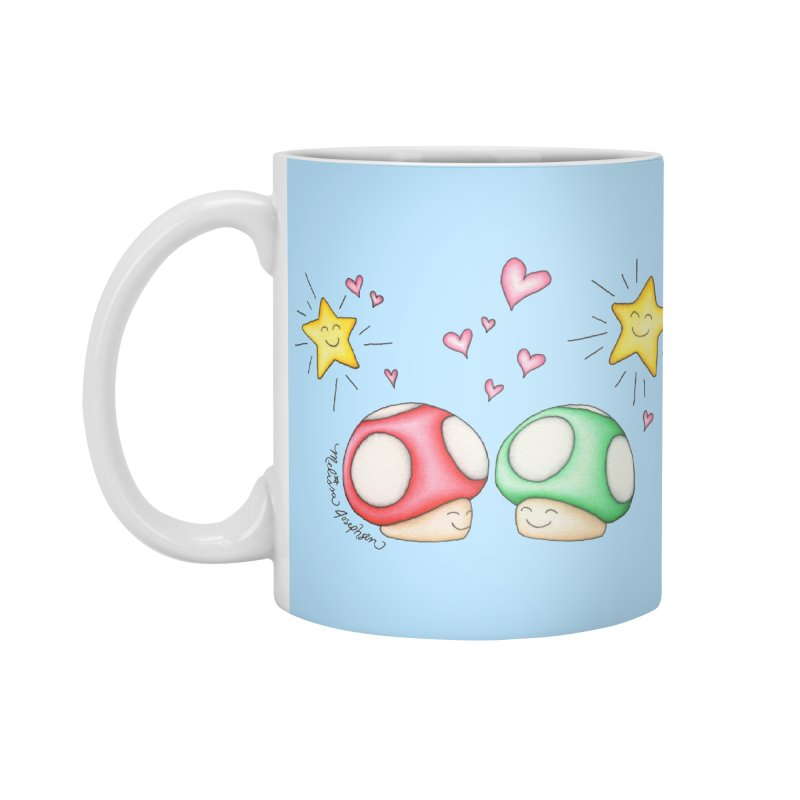 Mushroom Love Accessories Standard Mug by MelJo JoJo's Artist Shop