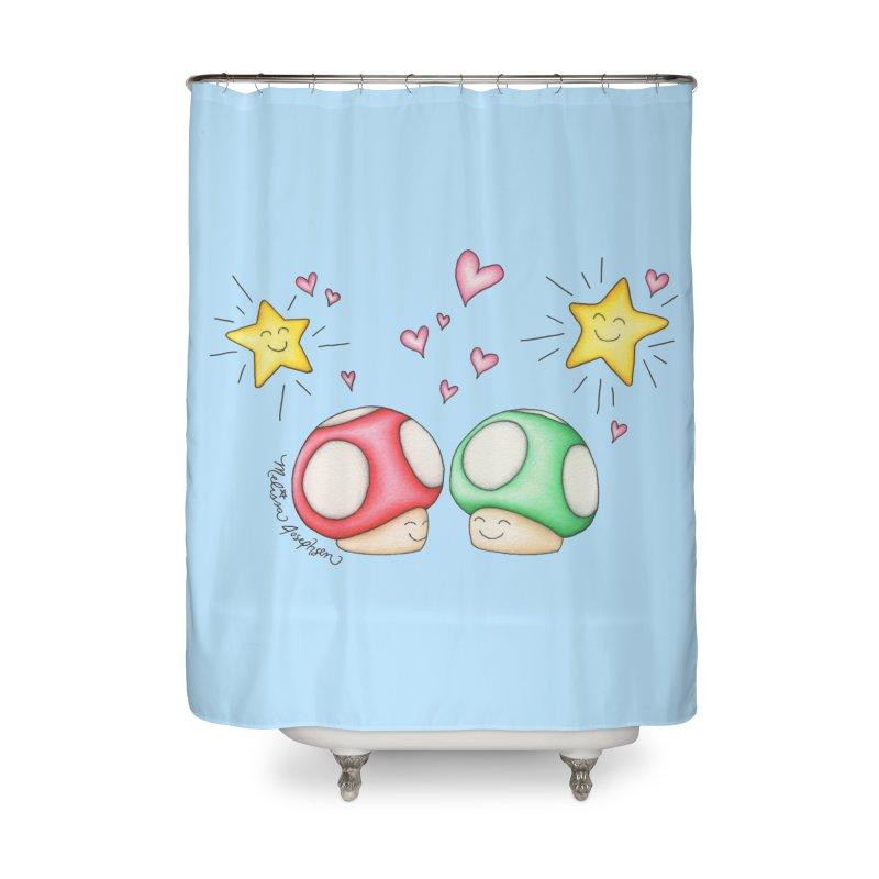 Mushroom Love Home Shower Curtain by MelJo JoJo's Artist Shop