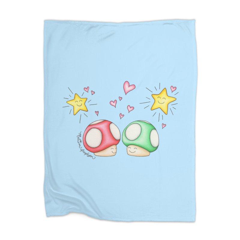 Mushroom Love Home Blanket by MelJo JoJo's Artist Shop