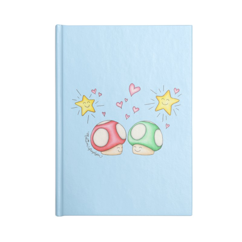 Mushroom Love Accessories Lined Journal Notebook by MelJo JoJo's Artist Shop
