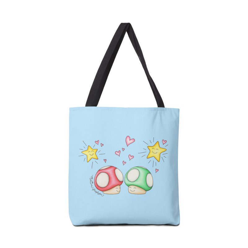 Mushroom Love Accessories Bag by MelJo JoJo's Artist Shop