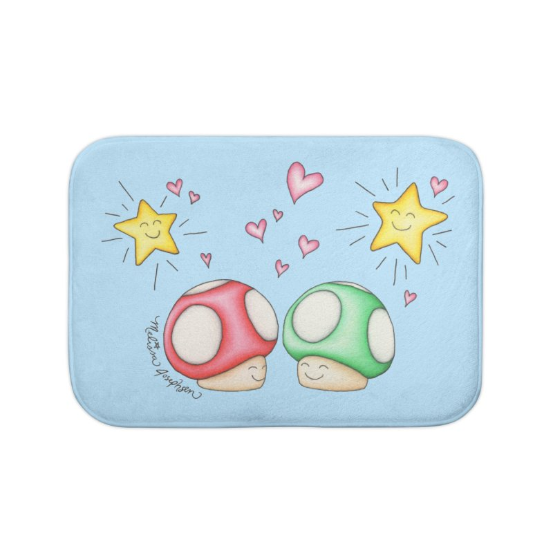 Mushroom Love Home Bath Mat by MelJo JoJo's Artist Shop