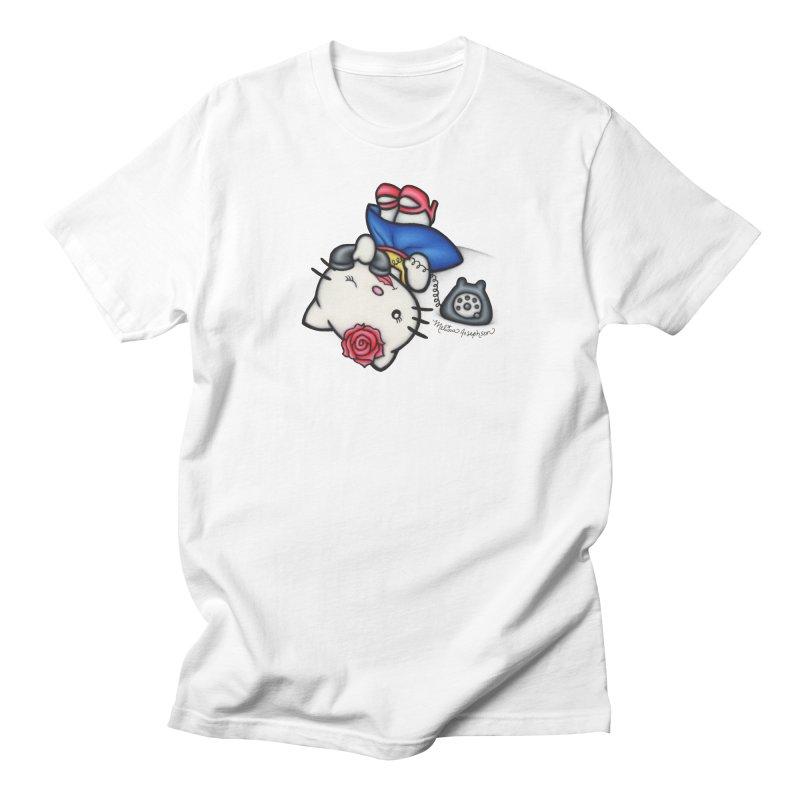 Salutations Kitty Men's T-Shirt by MelJo JoJo's Artist Shop
